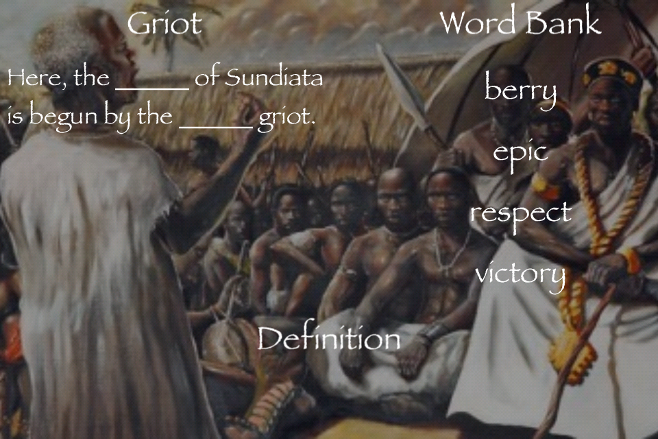 an analysis of the topic of the epic of sundiata